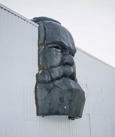 Karl Marx auf Wellblech / Karl Marx on corrugated iron